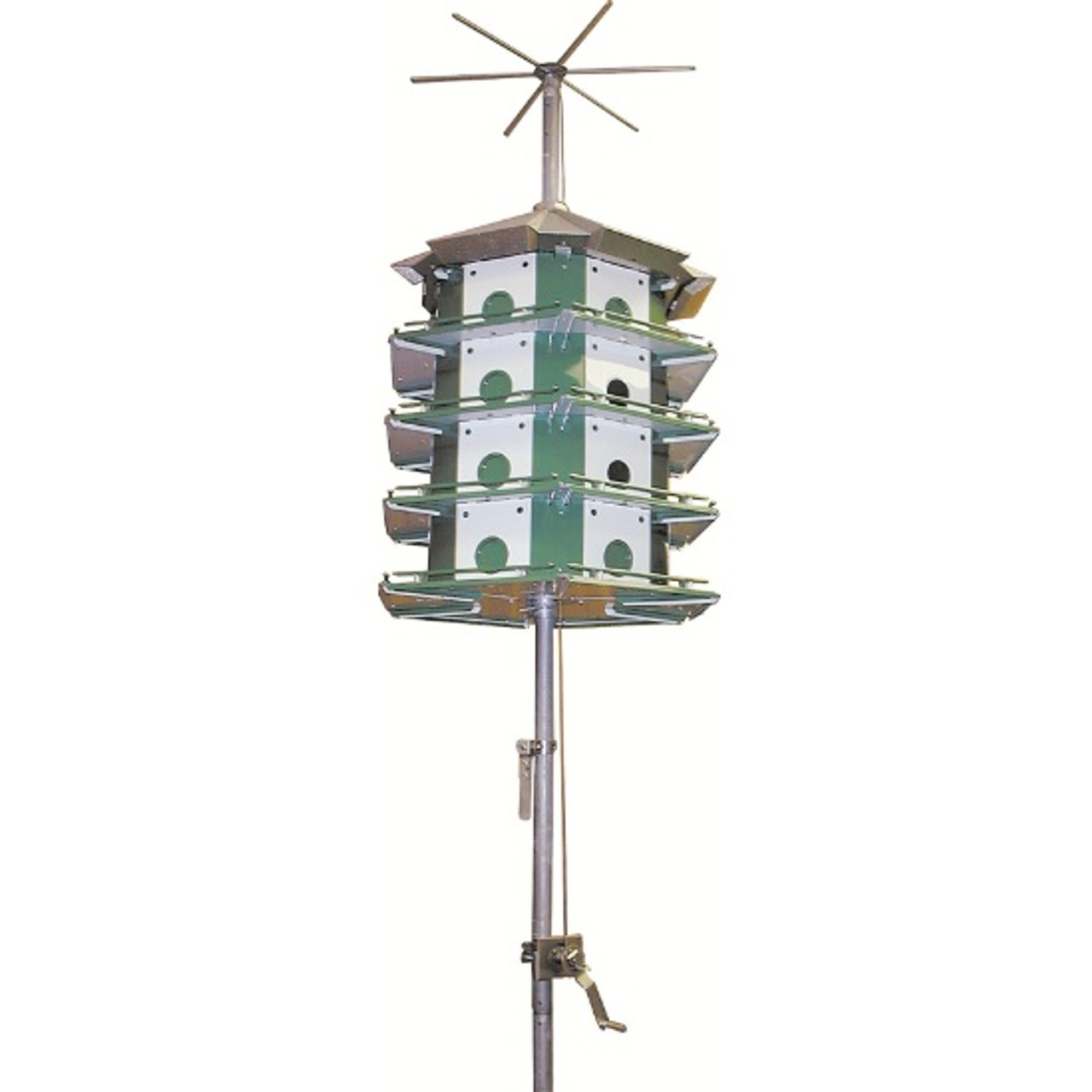 Nature House Trio Castle Purple Martin Bird House 24 Room Complete Safety System