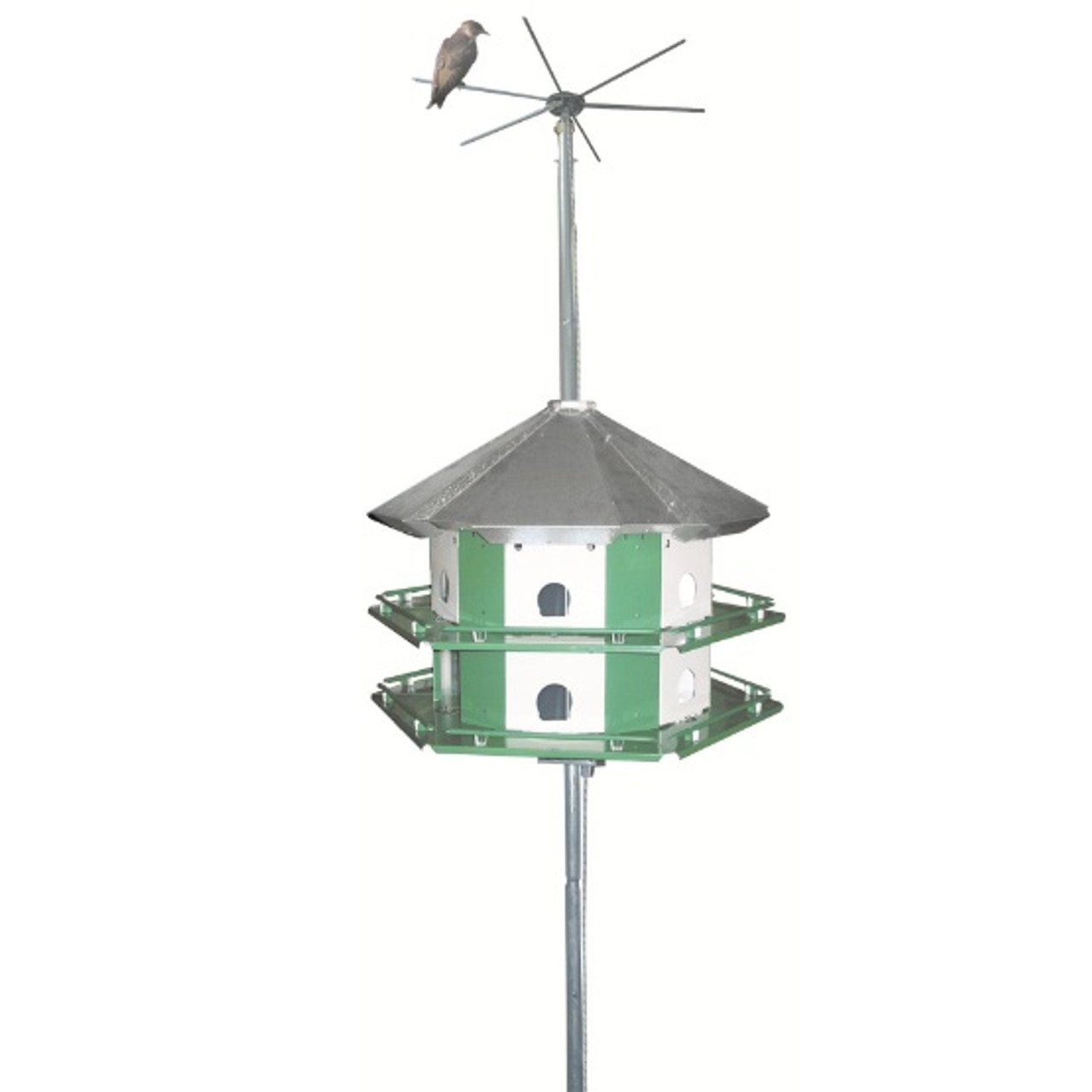 Nature House Mini Castle Purple Martin Bird House 12 Room Complete Safety System