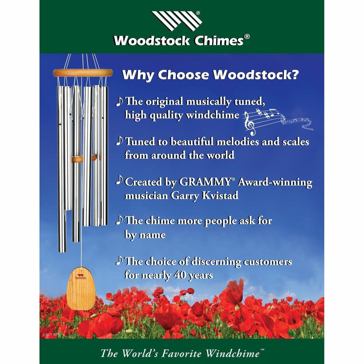 Woodstock Heroic Windbell Antique Copper Woodstock Chimes Grand