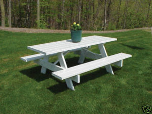 Dura-Trel 6 Foot PVC Picnic Table