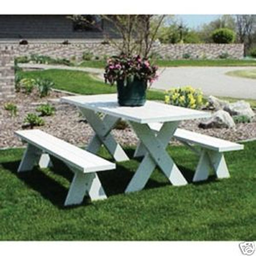 Dura-Trel 6 Foot PVC Picnic Table 2