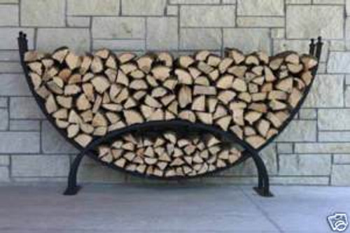 Woodhaven Crescent Log Rack Holds 1/3 Cord