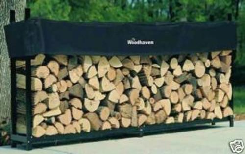"Woodhaven Log Firewood Rack & Cover 8""x4""x14""  96 WRC"