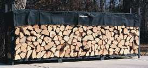 "Woodhaven Log, Firewood Rack & Cover 12""x4'x14"" 2"