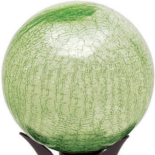 "Achla 10"" Gazing Globe Light Green Crackle"
