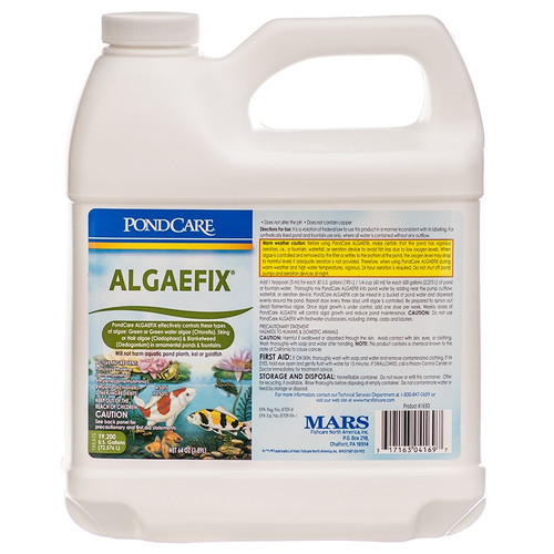 API Pond Care AlgaeFix 1/2 Gallon 64 oz. Pond Algae Control 169D
