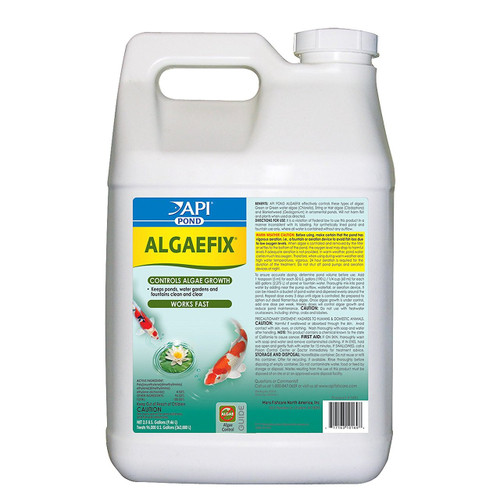 API Pond Care Algaefix 2.5 gal. Pond Algae Control 169J