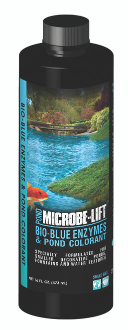 Microbe Lift Bio-Blue Enzymes & Pond Colorant 1 Pint