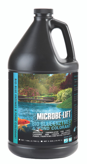 Microbe Lift Bio-Blue Enzymes & Pond Colorant 1 Gallon MLBBG4