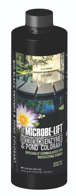 Microbe Lift Bio-Black Enzymes & Pond Colorant 1 Pint