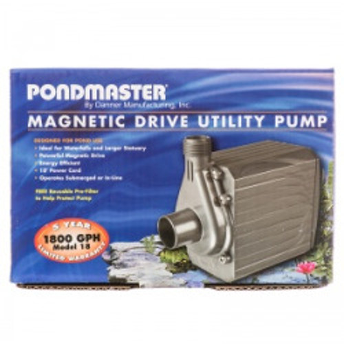 Supreme Pondmaster PM-18 Mag Drive Pond Pump 1800 gph 02728