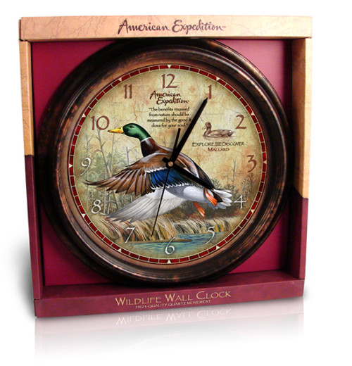 American Expedition Mallard Duck Wall Clock