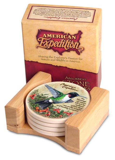 American Expedition Hummingbird Stone Coaster Set