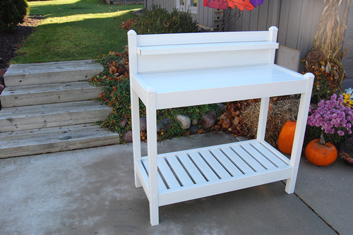 Dura-Trel Greenfield Potting Bench White