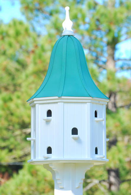 "Fancy Home Products Purple Martin Bird House Patina Copper Roof 22"" PMH22-12-12-PC"