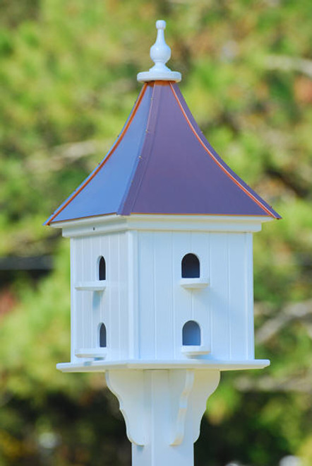 "Fancy Home Products Square Birdhouse Bright Copper 14"" PMH14-8-BC"