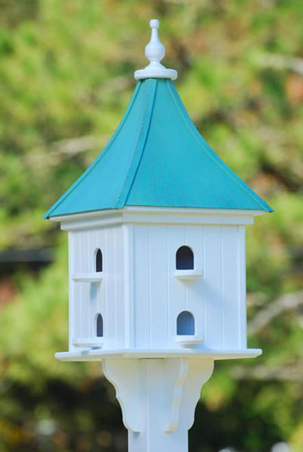 "Fancy Home Products Square Birdhouse Patina Copper 14"" PMH14-8-PC"