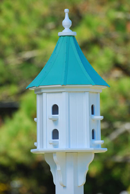 """Fancy Home Products Slope Birdhouse Patina Copper 14"""" BH14-8-PC SLOPE"""
