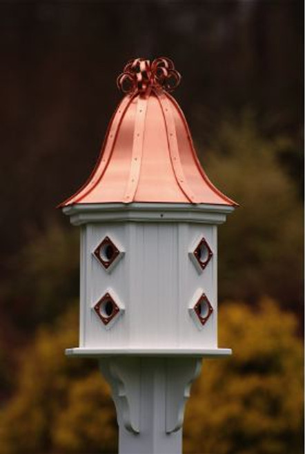 Fancy Home Products Birdhouse Bright Copper Curly Roof BH14-8CP-BC CURLY