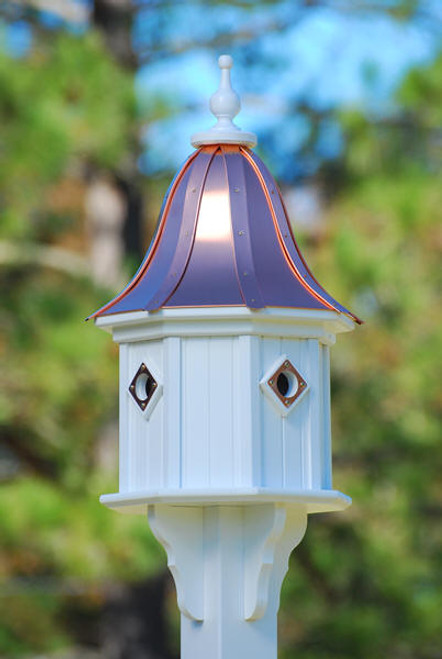 Fancy Home Products Birdhouse Bright Copper Bell Roof BH14-4CP-PC BELL