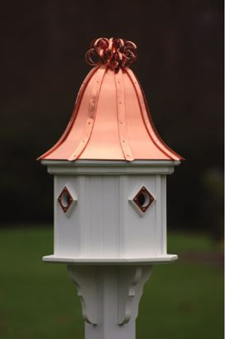 Fancy Home Products Birdhouse Bright Copper Curly Roof BH14-4CP-BC CURLY