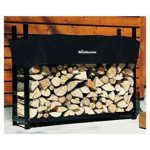"Woodhaven Log Firewood Rack & Cover 5""x4""x14"" 60 WRC"