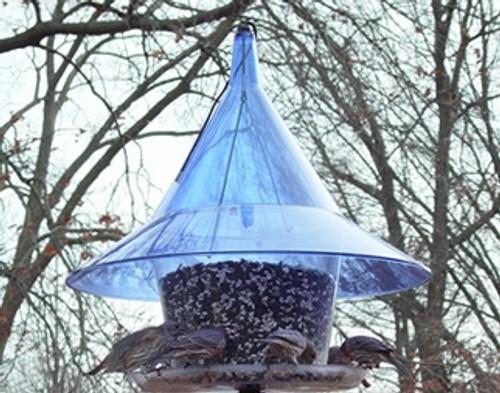 Arundale Mandarin Sky Cafe Squirrel Proof  Bird Feeder With Blue Top