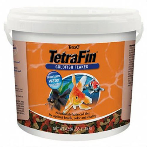 Tetra Pond Flaked Fish Food 4.52lb (TET16621) TetraPond Flaked Food is a high quality diet in flaked form. Feed in conjunction with TetraPond Floating Food Sticks to give your fish a change. TetraPond Flaked Food is an ideal diet for smaller fish in your pond and can be fed whenever water temperatures are above 50°F.  The primary meal for goldfish and small Koi.
