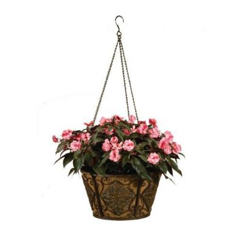 Deer Park Ironworks Diamond Hanging Basket w/ Coco Liner