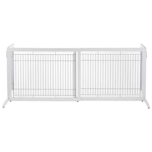 Richell Freestanding Pet Gate HL White