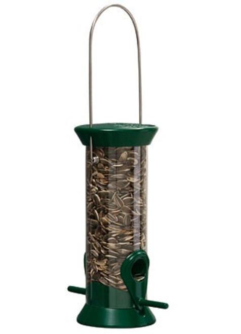 Droll Yankee New Generation Sunflower Bird Feeder, Small Green