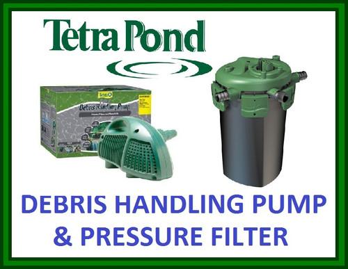 Tetra Pond Debris Handling Pumps & Bead Pressure Filter Combos