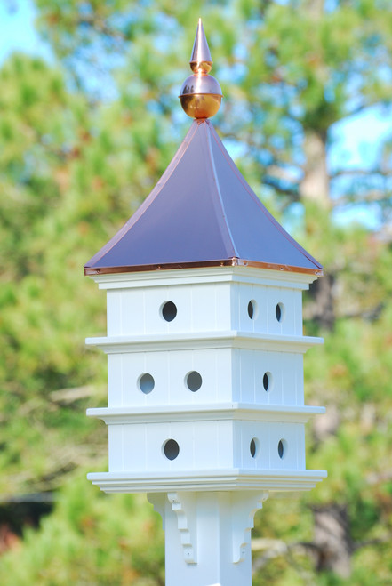 Fancy Home Products Purple Martin House 12 Room Purple Martin House With Polished Copper Roof PMH18-12-BC