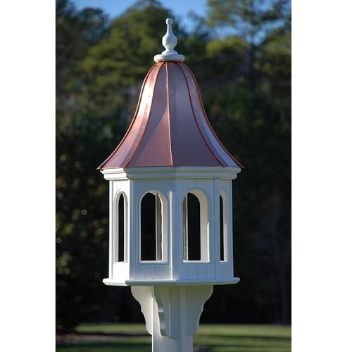 "Fancy Home Products Gazebo Bird Feeder Bright Copper 16"" BF16-BC-BELL"