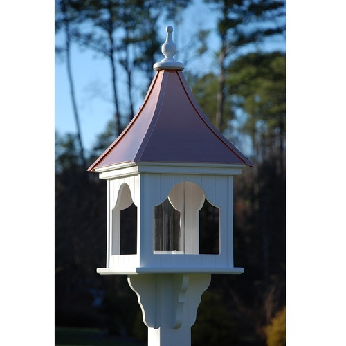 """Fancy Home Products Square Bird Feeder Bright Copper 14"""" BF14-SQ-BC"""