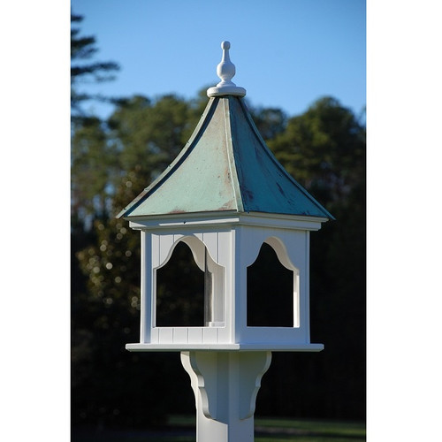 """Fancy Home Products Square Bird Feeder Patina Copper 14"""" BF14-SQ-PC"""