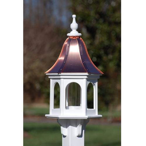 "Fancy Home Products Gazebo Bird Feeder Bright Copper 12"" BF12-BC-PANELS"