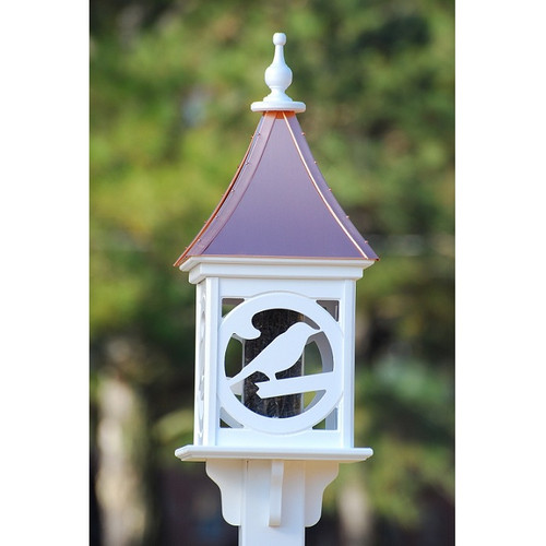 """Fancy Home Products Square Bird Feeder Bright Copper 12"""" BF12-SQ-BIRD-BC"""