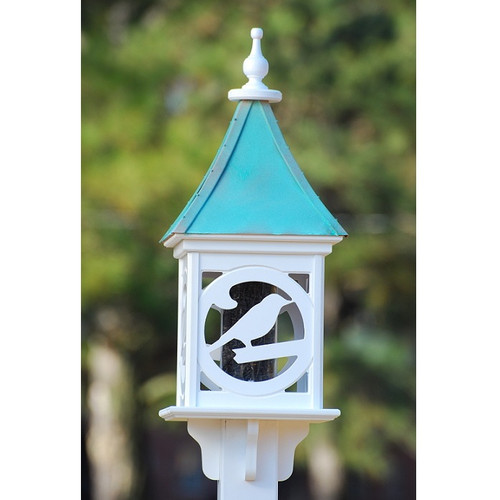 """Fancy Home Products Square Bird Feeder Patina Copper 12"""" BF12-SQ-BIRD-PC"""