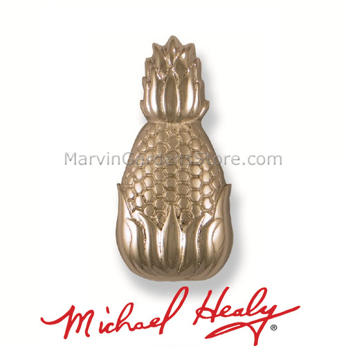 Michael Healy Hospitality Pineapple Doorbell Ringer in Nickel SIlver MHR60