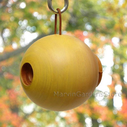 Byer of Maine Globe Bird House Mango Tree Collection in Yellow MTCD115Y