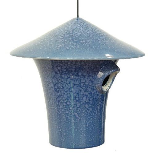 Byer of Maine Alcyon Kasa Bird House in Mottled Blue