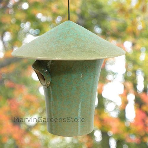 Byer of Maine Alcyon Kasa Bird House in Mottled Green