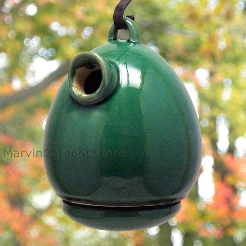 Byer of Maine Alcyon Egg Bird House in Green Leaf SH41221