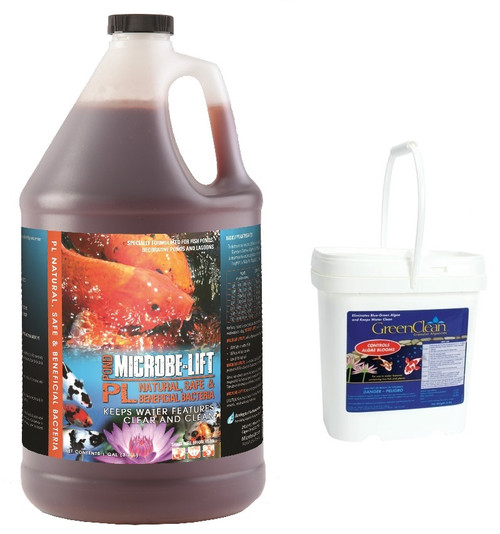 Microbe Lift PL 1 Gallon & GreenClean 8lb. Value Pack