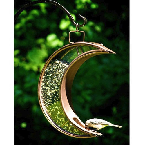 "Good Directions Crescent Moon Bird Feeder Venetian Bronze 14.5""x12.5"" 114VB"