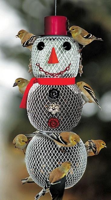 No No Mrs. Snowman Bird Feeder