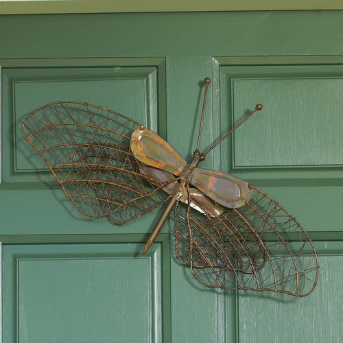 Ancient Graffiti Woven Wire Butterfly Flamed Copper