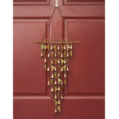 Ancient Graffiti Hummingbird Welcome Shimmering Bells Hanging