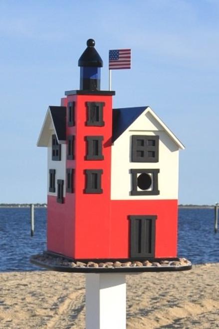 Home Bazaar Round Island Lighthouse Birdhouse